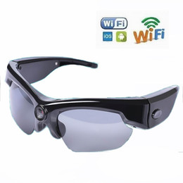 2019 controles remotos de dv sport HD 1080 P Mini gafas de sol cámara WiFi Remote Sport Mini cámaras Moda gafas Big Len Video Recorder Mini cámara DV rebajas controles remotos de dv sport