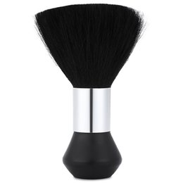 spazzola di detersione Sconti Ovonni Professional Face Duster Spazzole Soft Black Neck Barber Hair Clean Hairbrush Salon Cutting Parrucchiere Styling Makeup