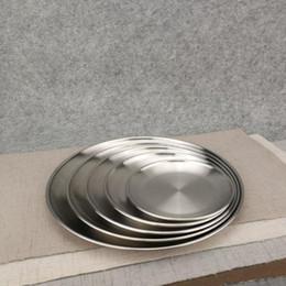 Piatti di stoviglie online-5 Dimensioni Acciaio inossidabile Piatto da portata Piatto da cucina Servizio da tavola Servizio da tavola Ristorante Vassoio da taglio