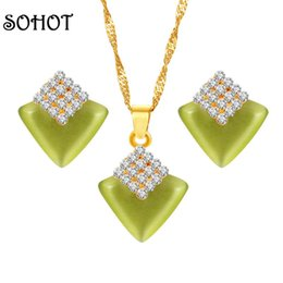 SOHOT Cute Geometric Jewelry Sets Square Imitation Opal 16 Pieces Rhinestone Accessories For Trendy Girlfriend Birthday Gift Deals