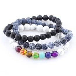 Wholesale Vein Agate Beads - 8'' (20cm) 8mm Trendy Buddha Beads Bracelet Matte-finish Blue-veins Stone Bracelets Yoga Bracelets Jewelry for Men Women