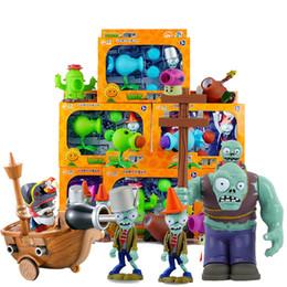 Figuras de plantas vs zumbis on-line-PVZ Ação Filmes Figuras Jogos Pode lançar armas BB popular jogo Plants vs Zombies engraçado Brinquedos de Natal da páscoa Ano Novo presente do menino Conjunto Completo