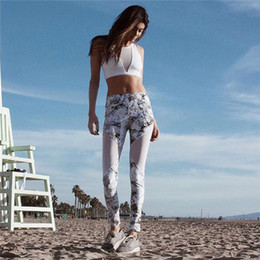 d63e5ab06e 2018 New Hot Sell Bra+Leggings Women Tracksuit Sexy floral Sport Suit White Transparent  Women Yoga Set Printed StriS1140