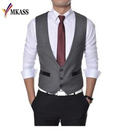 7b50c7f3b49 2018 Wedding Suit Vests Men Spring and Autumn New Business Mens Vests and  Waistcoat Casual Slim Fit Party Gilet Homme