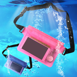 Bolsa de natación bajo el agua online-Bolso de deporte impermeable Bolsa de cintura de natación Cintura de buceo a la deriva Fanny Pack Bolsa subacuática Mochila de hombro seco Bolsillo de teléfono