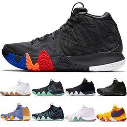 afbda63d1917 kyrie 4 2019 - Kyrie Irving 4 4s Men Basketball Shoes Uncle Drew Triple  Black Oreo