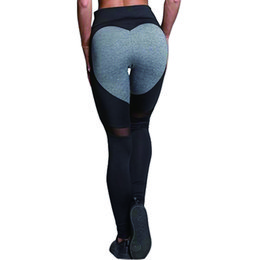 ff43ad45c7d New Fashion Heart Pattern Mesh Splice Leggings Athleisure Fitness Clothing  Elastic Leggings Women Bodybuilding Hot Pants