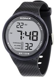 Водонепроницаемые часы под водой онлайн-TOMORO Vogue мужская 100 м водонепроницаемый Спорт черный смолы большие цифры цифровые часы погружения (можно нажать под водой)