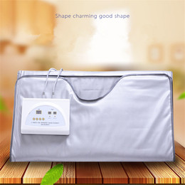 Wholesale far fir infrared sauna blanket - New model 2 Zone FIR Sauna FAR INFRARED BODY SLIMMING SAUNA BLANKET heating therapy Slim Bag SPA WEIGHT LOSS body detox machine