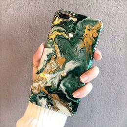 Yunrt De Luxe Marbre Telephone Cas Pour Iphone X Cas Silicone Noir Or Couverture Souple De Mode Pour Iphone 7 8 Plus 6 6 S Cas Coque Capa