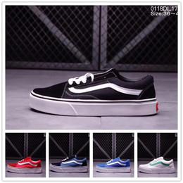 Wholesale Blue Grey Classic - Vans Old Skool low-rise classic men's WOWEN'S skateboard shoes black unisex sports canvas shoes sports shoes