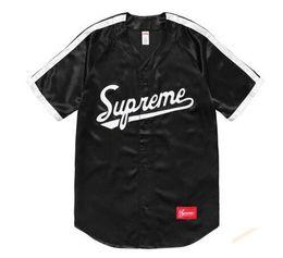 Wholesale Dj Clothing - 18ss satin casual V necked basebal Justin Bieber Dj Khaled black S-XXL neutral clothing man women clothing