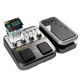 Effet pédale pour basse en Ligne-MG-100 Processeur de pédale multi-effets professionnel pour basse de guitare violon 40s Record 55 Effet Mode 10 Sound Di Box Basse électrique