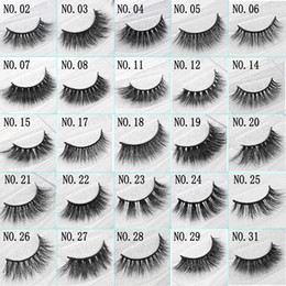 Wholesale Strip Women - 3D Mink False Eyelashes Handmade Natural Long Soft Premium Quality Real Mink False Lashes Women Makeup Reusable Eyelashe 1 Pair pack
