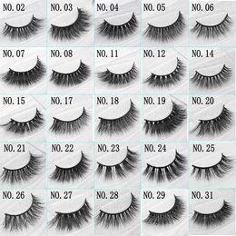 Wholesale Handmade C - 3D Mink False Eyelashes Handmade Natural Long Soft Premium Quality Real Mink False Lashes Women Makeup Reusable Eyelashe 1 Pair pack