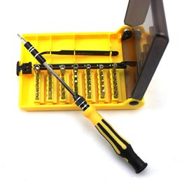 Canada 45-en-1 matériel professionnel vis tournevis kit outil tournevis pour montre téléphone mobile bonne main outils de réparation pour un usage multiple cheap watch repairing tool kit Offre