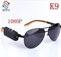 Wholesale Video Camera Bicycle - Mini Camera HD Sunglasses 1080P Glassess Micro Video Camera Recorder Secret DV Security Bicycle Invisible Fashional