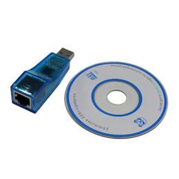 2019 câble ethernet USB 1.1 à LAN RJ45 Ethernet 10 / 100Mbps adaptateur de carte réseau pour Win7 Win8 Tablet PC Android Bleu gros câble ethernet pas cher