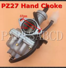 Мотоциклетный карбюратор онлайн-PZ27 27mm Hand Choke Carburetor 150CC 200CC ATV Quad Dirt Bike Motorcycle Parts