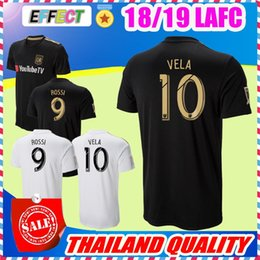 Wholesale Purple Homes - 2018 LAFC Soccer Jerseys 18 19 New Home Carlos Vela GABER ROSSI CIMAN ZIMMERMAN Black Primary Thailand Quality Football Shirts