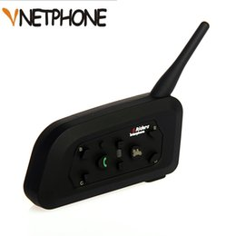 V6 Bluetooth Intercom Casque De Moto Accessoires Haut-Parleur 1200m 6 Pilotes Interphone Casque Soutien BT Sans Fil Mp3 Musique GPS ? partir de fabricateur