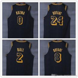 Wholesale ball jerseys - CITY EDITION 2018 New Los Angeles Basketball Jersey 0 Kyle Kuzma 2 lonzo ball 24 8 kobe bryant Jerseys