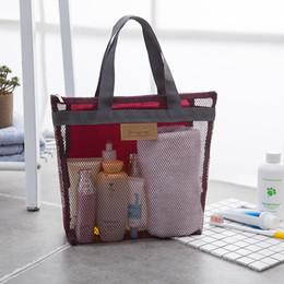gafas de sol sin rasguños Rebajas Women's Makeup Cosmetic Mesh Bag Organizer Tote - Beauty Accessories Toiletry Kit Travel Storage Bag Pouch (5 Colors)