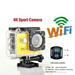 4 K spor kamera HD 1080 P eylem kameraları Kask kameralar Su Geçirmez Spor DV Bisiklet paten 2.4G uzaktan kumanda ile Kaydı Camcorde nereden xiaomi gece kamera tedarikçiler