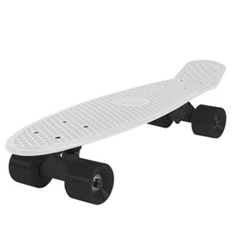e2045d24cfa Jelly Color 22 Inches Mini Cruiser Skateboard Street Long Skate Board  Outdoor Sports For Adult or Children Mini Cruiser