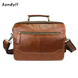Genuine leather 2018 Handbag Multi Pocket large capaci crossbody bag single  shoulder laptop men bags 1e2a3297bf2f8