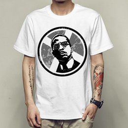 Wholesale leaders clothing - Malcolm x t shirt Black leader short sleeve gown Nice tees Unisex clothing Quality modal Tshirt