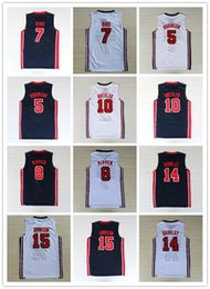 Wholesale Robinson Black - NCAA 1992 Dream Team #9 Jersey #7 Larry Bird 8#Scottie Pippen #15 Earvin Johnson #10 Clyde Drexler 5#David Robinson#14 Basketball Jerseys