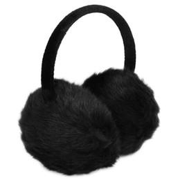 2019 riscaldatori dell'orecchio di ciclismo 2017 NEW Lady Donna Fascia nera pelliccia sintetica invernale copri orecchie