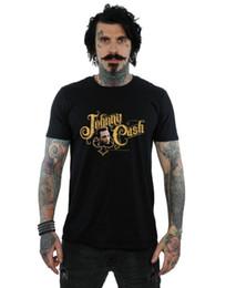 pia batismal da camiseta Desconto A letra 2018 dos homens novos do dinheiro de Johnny Cash T-shirt dos homens