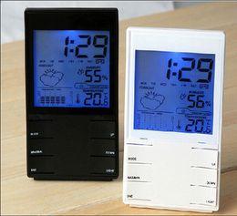 Canada Thermomètre numérique LCD Hygromètre Température électronique Humidité Compteur Station météo Prévisions Intérieur Extérieur Thermomètre Réveil Offre