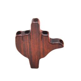 Accesorios de soporte de madera online-Premium Natural hecho a mano Rose Wood Palm forma fumar filtro Consejos Dia. 8 MM Herb Pipe Tobacco Cigarette Holder Pipe Boquilla Accesorios