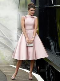 Wholesale Turquoise Short Homecoming Dresses - pink satin crystal short tutu Prom Dresses 2018 michael korns vestido marsala paolo sebastian turquoise Evening party Dress