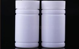 Kleine plastikflaschen online-100ml Mini-Plastikflasche mit weißer Schraubkappe Kleine Pill-Verpackung Container Probenfläschchen