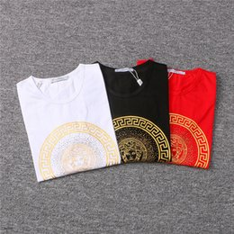 Wholesale face t shirt - Mens Designer T Shirts Mens Clothing Luxury Brand T Shirts 2018 Summer Fashion Tide High Quality Letter Face Print Casual Men Shirt M-3XL