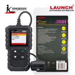 Lector de código obd ii online-Luanch Creader 3001 OBD2 Escáner OBD2 Lector de código de falla Escáner OBD II Herramienta de diagnóstico de motor de coche Código de inicio Creader