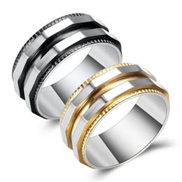 anillo de los hombres Rebajas Anillo de acero de titanio para hombre Anillos de engranaje para hombre Anillo de oro negro Anillo masculino Estilo punk Joyería de fiesta Envío directo