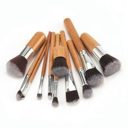 2019 meilleur maquillage naturel Meilleure vente 11 pcs ensemble Poignée En Bambou Naturel promotion meilleur maquillage naturel