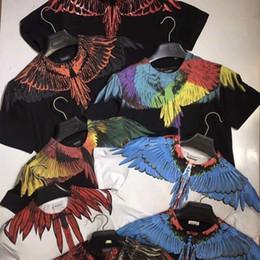 2019 marcelo burlon hemden Marcelo Burlon T-Shirt Männer Frauen uomo Provinz von Mailand Feder Flügel Marcelo Burlon T-Shirt T-Sommer-T-Shirt günstig marcelo burlon hemden