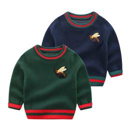 Kinderkleidung pullover online-Neugeborene Baby-Winter-Kleidung stricken Pullover Frühlings-Herbst-Tops Kinder Pullover mit langen Ärmeln Kleinkind- Jungen Pullover Pullover Kinder Säuglings-Kleidung
