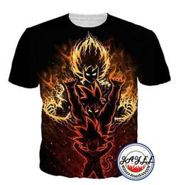Bola de dragão z vegeta on-line-Homens 3D Camiseta Dragon Ball Z Goku Vegeta 3d Impressão Camisetas Verão Top de Manga Curta Camisetas