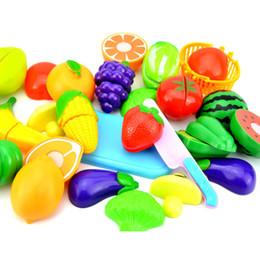 Gemüse schneiden spielzeug frühe entwicklung spielzeug küche rollenspiel bildung spielzeug für baby surwish 23 teile / satz kunststoff obst von Fabrikanten