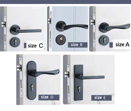 Canada Serrures de porte en aluminium noir espace solide chambre continentale minimaliste intérieur porte poignée serrure serrures de sécurité pour la maison Offre