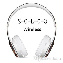 Wholesale wireless foldable earphones - s-o-l-o 3 Wireless bluetooth Foldable Headphones Headsets with high quality stereo sound headphones Earphones & Newest 3.0 Wireless.