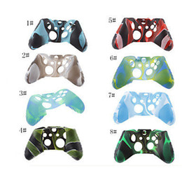 Wholesale xbox one skins - New For Xone Soft Silicone Flexible Camouflage Rubber Skin Case Cover For Xbox One Slim Controller Grip Cover