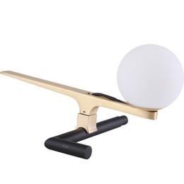 Uccelli d'ottone online-Ottone moderno lampada da tavolo uccello animale nero lampada da tavolo camera da letto designer home decor spedizione gratuita h032
